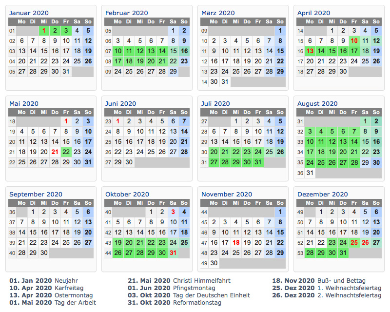 ferienkalender-2020